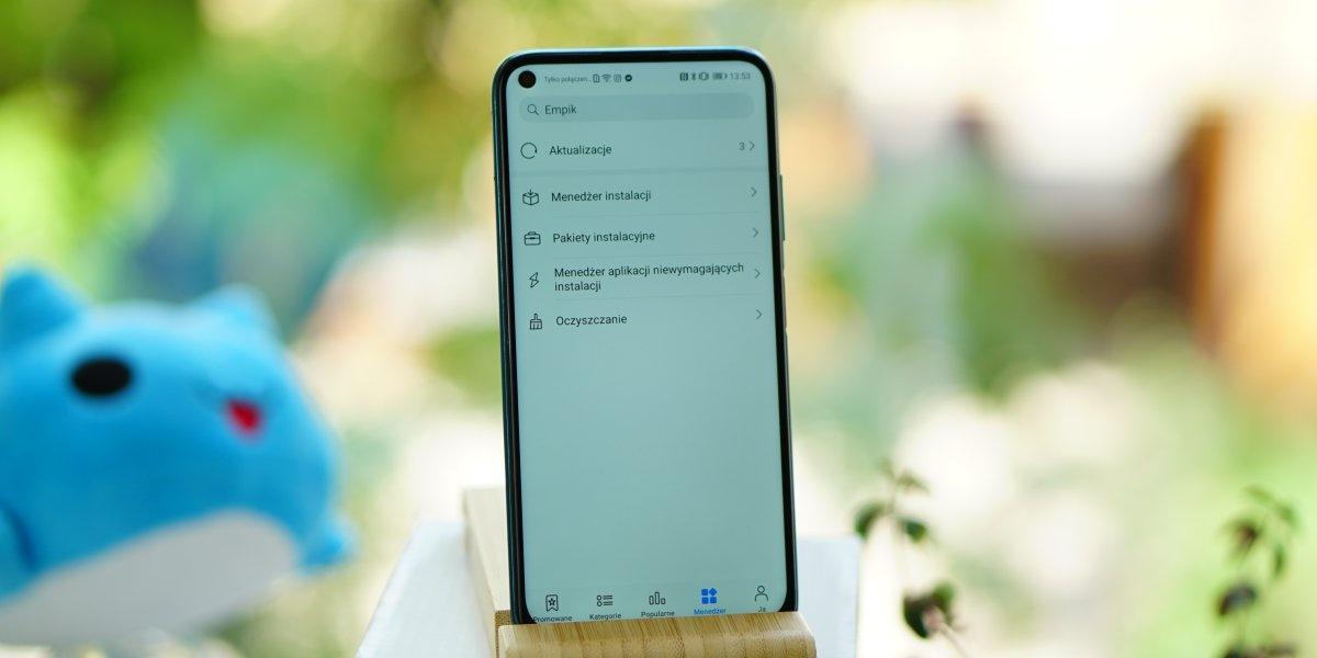 Menedżer w Huawei AppGallery pozwala zarządzać pobraniami i pamięcią