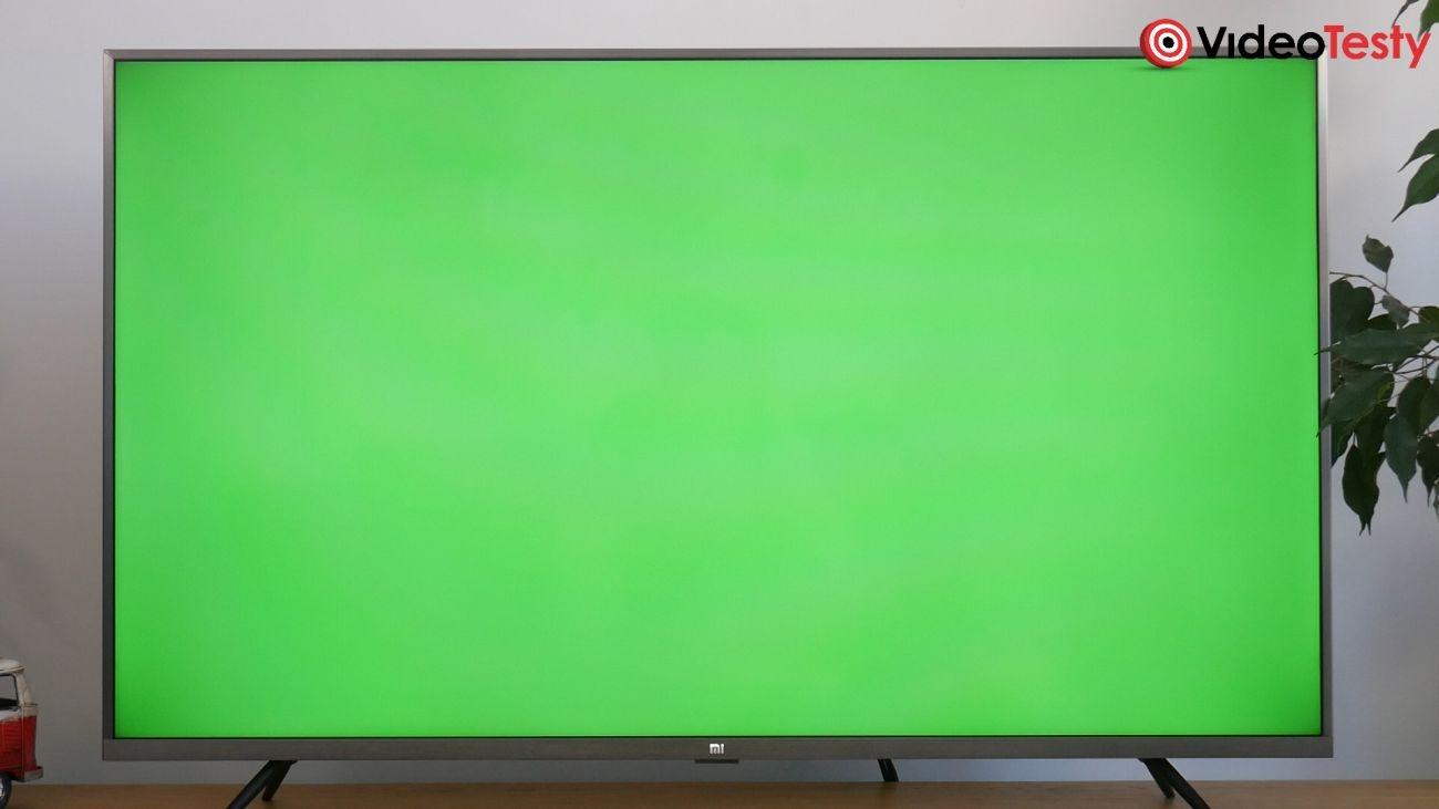Test Xiaomi Mi TV 4S 43 cale - test równomierności podświetlenia LED