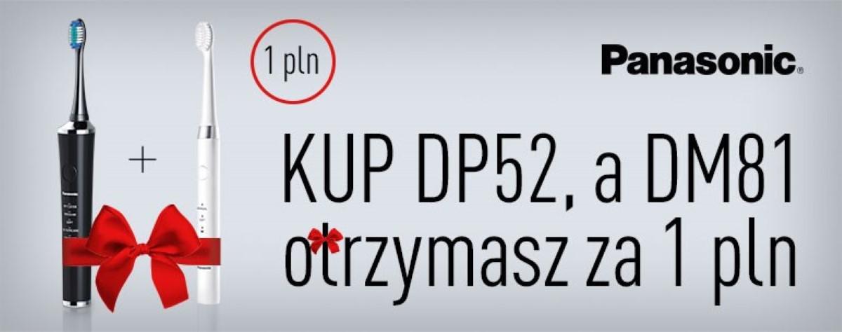 Grafika promocyjna szczoteczek Panasonic