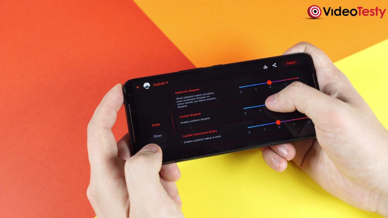 Asus ROG Phone II pozwoli na kontrolę dotyku zaawansowanymi opcjami