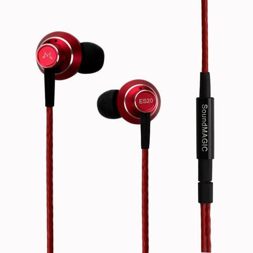 SoundMAGIC ES20 Czerwone słuchawki dokanałowe