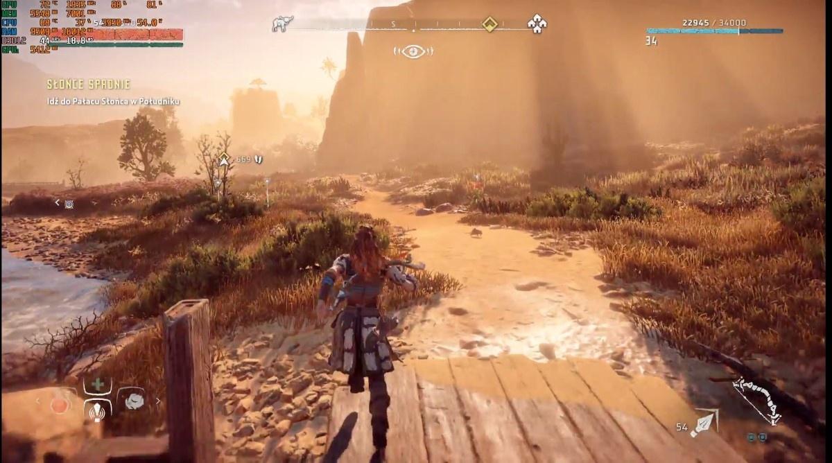 Ustawienia ultra w 1080p Horizon Zero Dawn