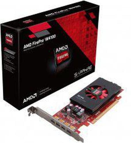 Sapphire FirePro W4100 2GB GDDR5 (128 bit) 4x Mini DisplayPort (100-505979)