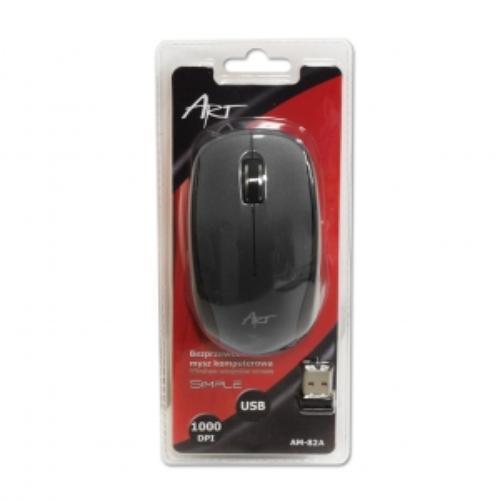ART Mysz bezprzewodowo-optyczna AM-82A czarna