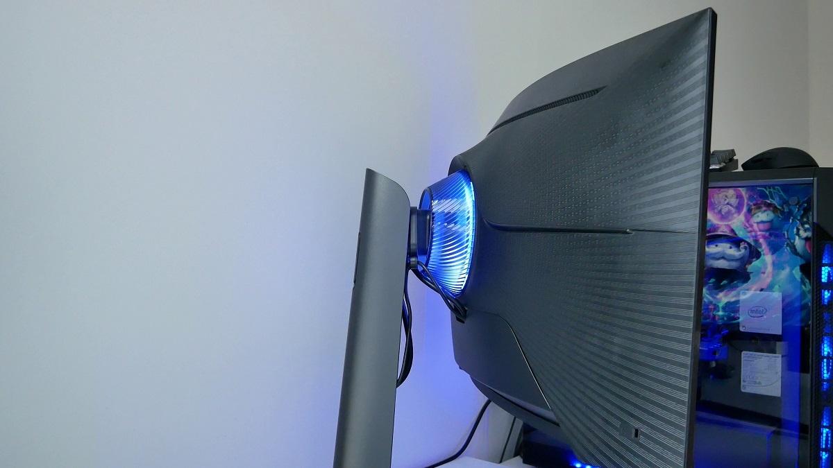 Samsung G7 Odyssey podświetlenie z tyłu monitora