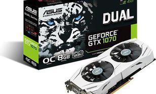 Asus GeForce GTX 1070 Dual OC 8GB GDDR5 (256 Bit) DVI, 2x HDMI, 2x DisplayPort, BOX (90YV09T1-M0NA00) DUAL-GTX1070-O8G