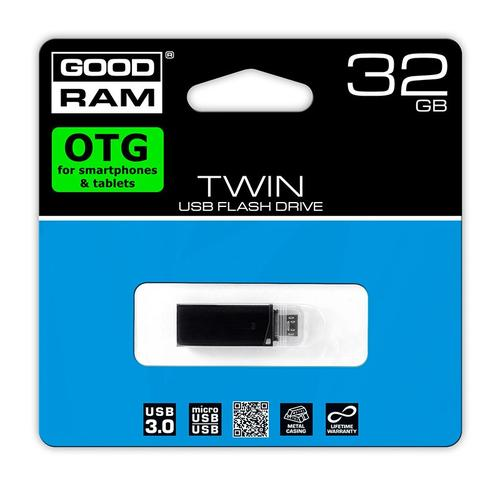 GoodRam TWIN 32GB USB3 /microUSB OTG BLACK