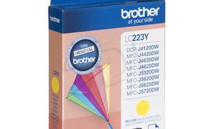 BROTHER Tusz Żółty LC223Y=LC-223Y, 550 str.