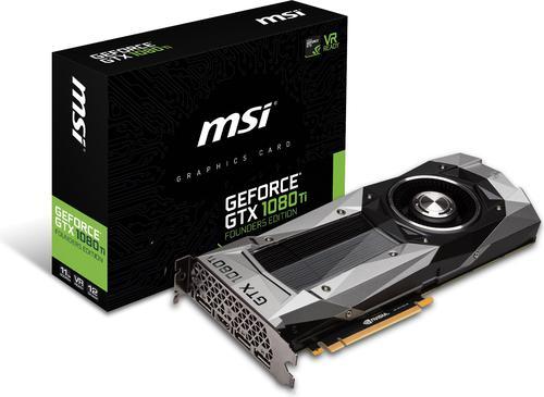 MSI GeForce GTX 1080 Ti Founders Edition 11GB GDDR5X (352 bit), HDMI, 3x DP, BOX