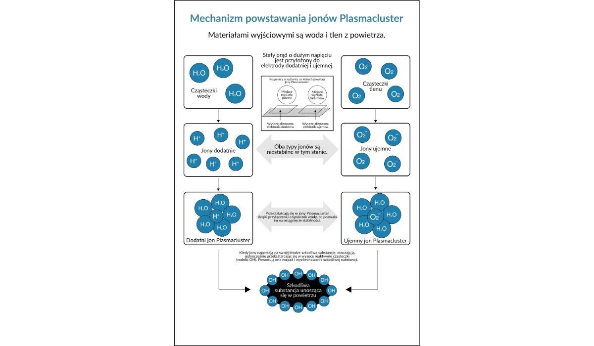 Mechanzim powstawania jonów Plasmacluster