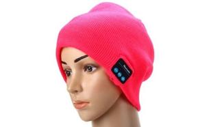 Gearbest 2.4GHz MIC Wireless Bluetooth Knitted Winter Hat Cap Media Music Receiver Built