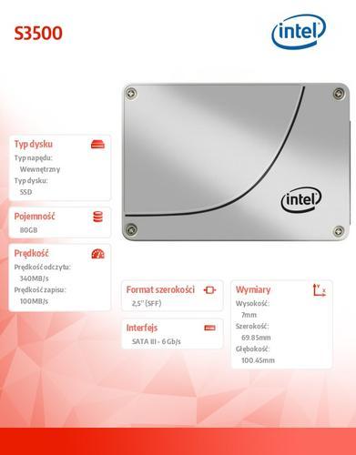Intel S3500 80GB SATA3 2,5' 340/100 MB/s