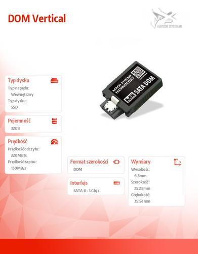 Mach Xtreme SATA DOM SSD 32GB 220/150 MB/s Vertical SLC