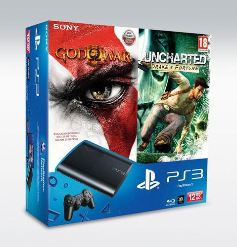 PS3 12GB + God Of War 3 + Uncharted