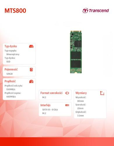 Transcend SSD M.2 2280 128GB SATA3 MLC INDUSTRIAL