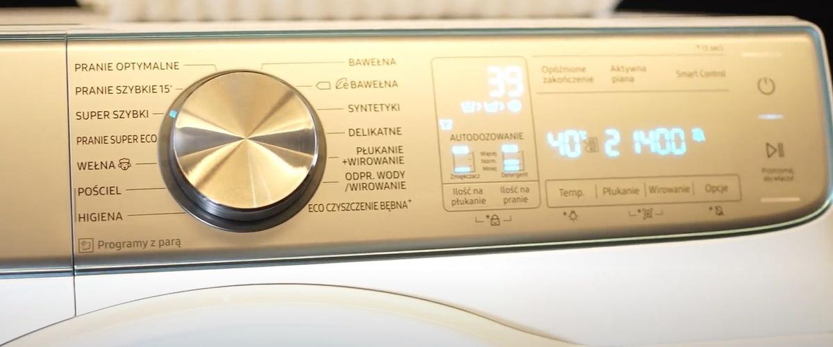 Programator pralki Samsung jest szybki i intuicyjny