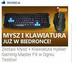 Zestaw Mysz + Klawiatura Hykker Gaming Master FX w Ogniu Testów!