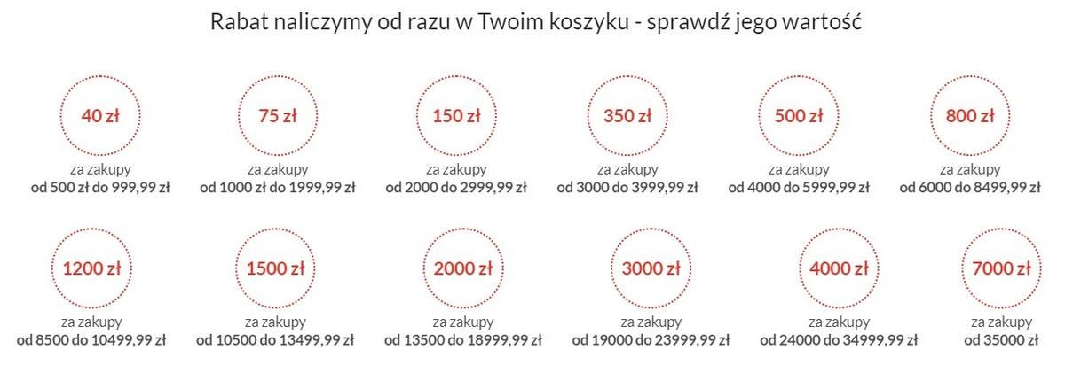 Więcej kupujesz, więcej zyskujesz - wykaz rabatów do 7000 złotych