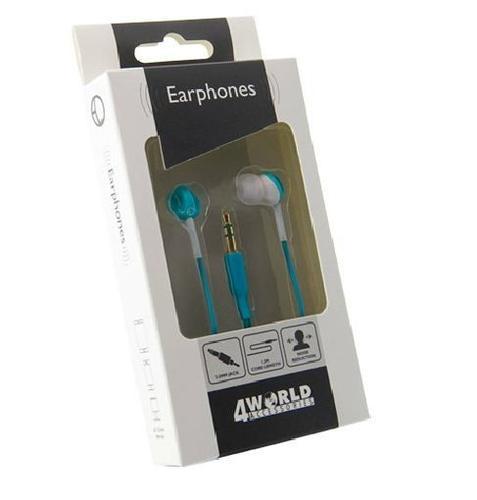 4World Słuchawki MP3 Color | jack 3.5mm | 1.2m | niebieskie 08486