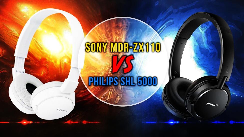 Sony MDR-ZX110 Czy Philips SHL 5000? Porównujemy Niedrogie Słuchawki