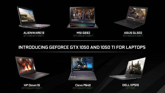Laptopy z GTX 1050