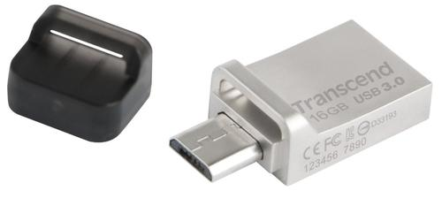 Transcend JETFLASH 880S 16GB USB3/microUSB OTG Metallic