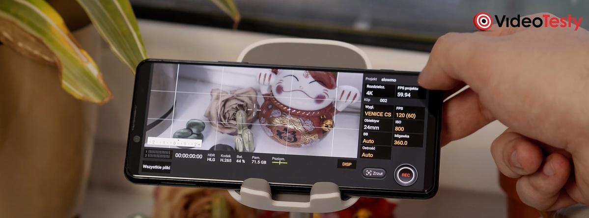 Sony Xperia 5 II wyposażono w aplikację do rejestrowania video - Cinema Pro