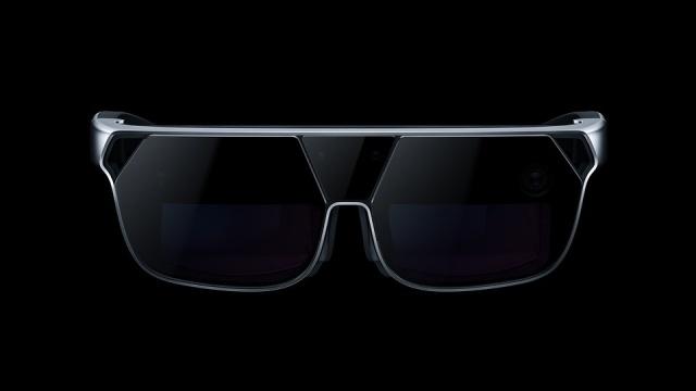Gogle Oppo AR - widok z przodu ujawnia kamery i ToF 3D