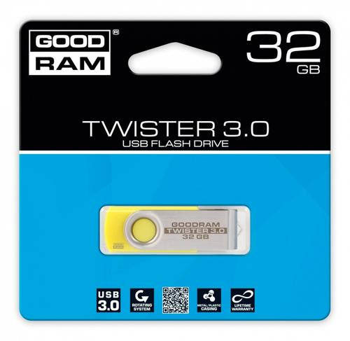 GoodRam TWISTER YELLOW 32GB USB3.0