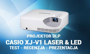 Projektor DLP - Casio XJ-V1 Laser & LED - Test - Recenzja - Prezentacja