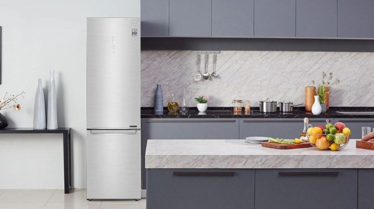 LG GBB62PZGFN lodówka w kuchni