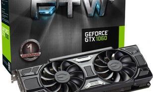 EVGA GeForce GTX 1060 FTW+ Gaming ACX 3.0 6GB GDDR5 (192 Bit) DVI-D, 3xDP, HDMI, BOX (06G-P4-6368-KR)