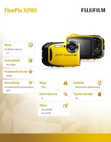 FujiFilm XP80 yellow
