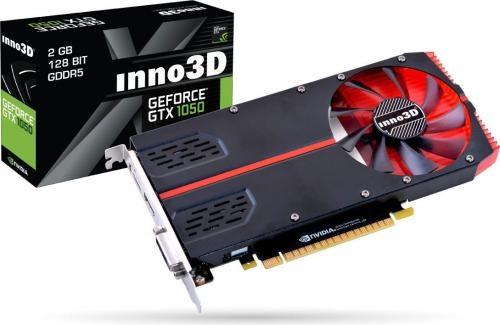 Inno3D GeForce GTX 1050 1-Slot Edition 2GB GDDR5 (128 bit), DVI-D, HDMI, DisplayPort, BOX (N10502-1SDV-E5CM)