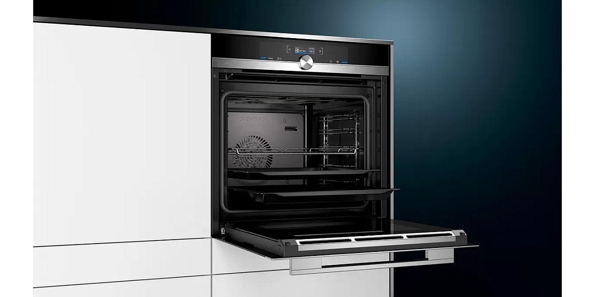 otwarty piekarnik do zabudowy Siemens