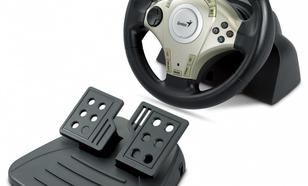 Genius Kierownica Twin Wheel F1, PC&PS2, Vibration Feedback, USB