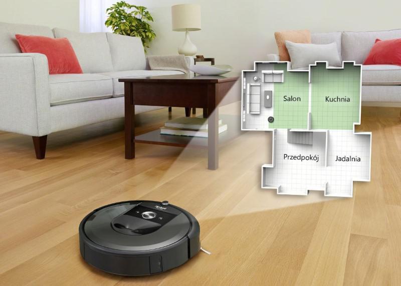 Roomba i7 może mapować do 10 różnych pięter