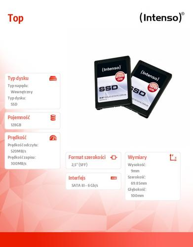 INTENSO SSD Top 128GB 2,5'' Sata III 520/300MB/s