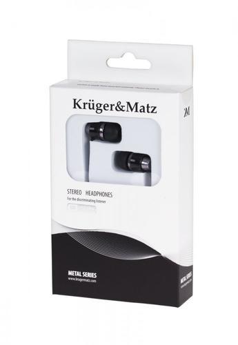 Kruger & Matz SŁUCHAWKI STEREO METAL KMM01BK