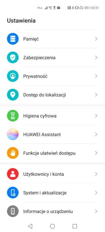 Ustawienia Huawei P40 Pro oferują sporo funkcji