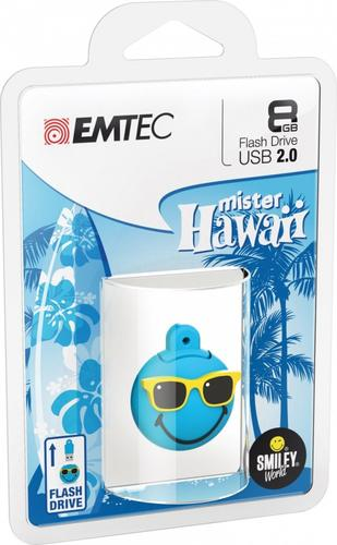 EMTEC Pendrive 8GB Smilley World Mr Hawaii B SW109