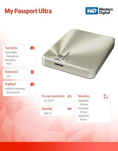 Western Digital $Ext.HDD 2.5 WD MP Ul 2TB MetalGold