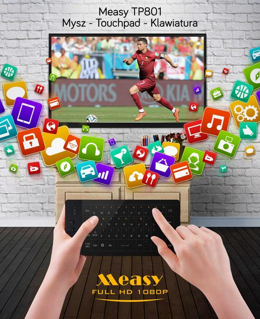 Measy TP801 - Ciekawe Połączenie Klawiatury Z Touchpadem