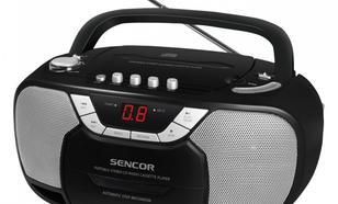 SENCOR Przenośny radiomagnetofon stereo z odtwarzaczem CD SPT 207