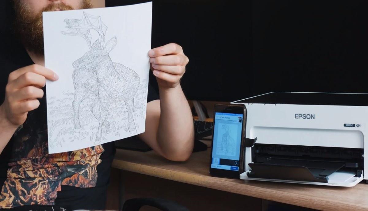 Wykorzystanie drukarki do wydrukowania kolorowanek