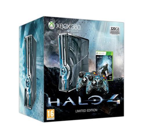 Xbox 360 320GB Edycja Limitowana + Halo 4 (2 pady)