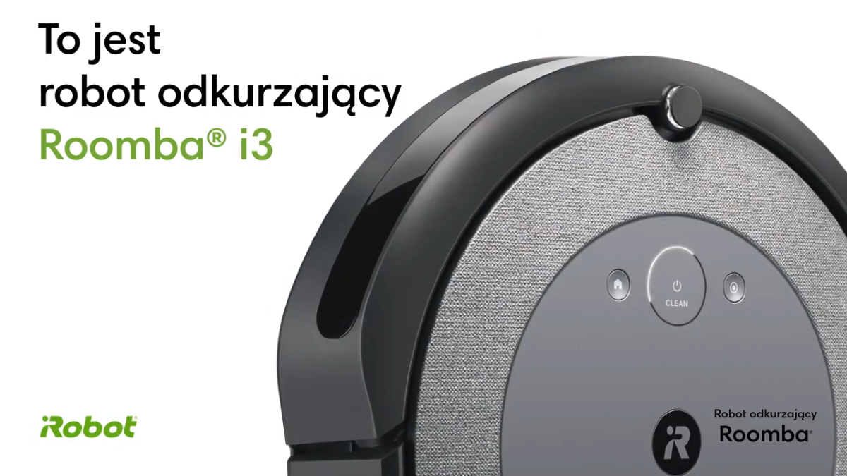 Prezentacja odkurzacza iRobot Roomba i3 na kanale producenta