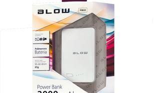 Blow Power Bank 3000mAh 1xUSB Bialy(White)