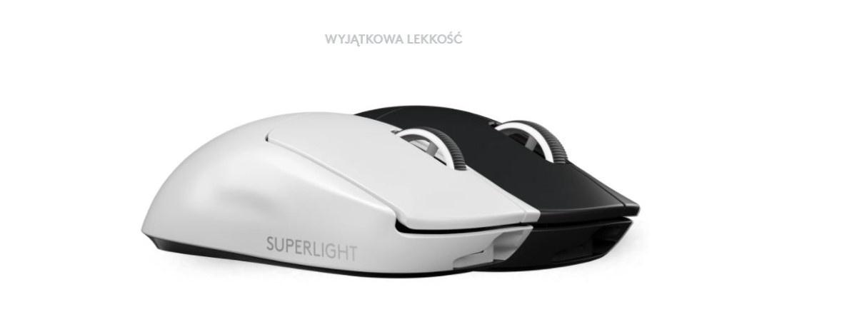 Logitech G Pro X Superlight na białym tle