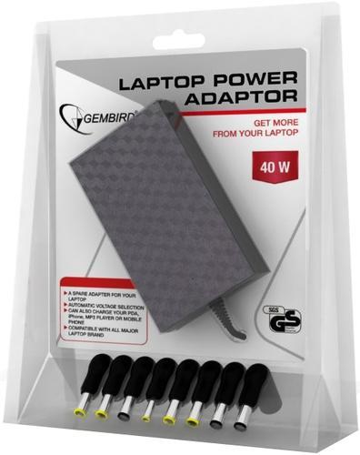 GEMBIRD Zasilacz uniwersalny do notebooka z USB 100-240V 40W